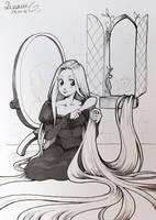 INKTOBER 2016 : Rapunzel by Sophie-Dreamy