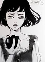 INKTOBER 2016 : Snow White by Sophie-Dreamy