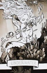 INKTOBER 2017 : Underwater (4) by Sophie-Dreamy