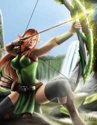 Lightining elf archer by vinnymax