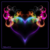 Flaming Neon Heart by Colliemom