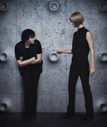 Ai no kusabi - Riki Dark and Daryl by Iasonm
