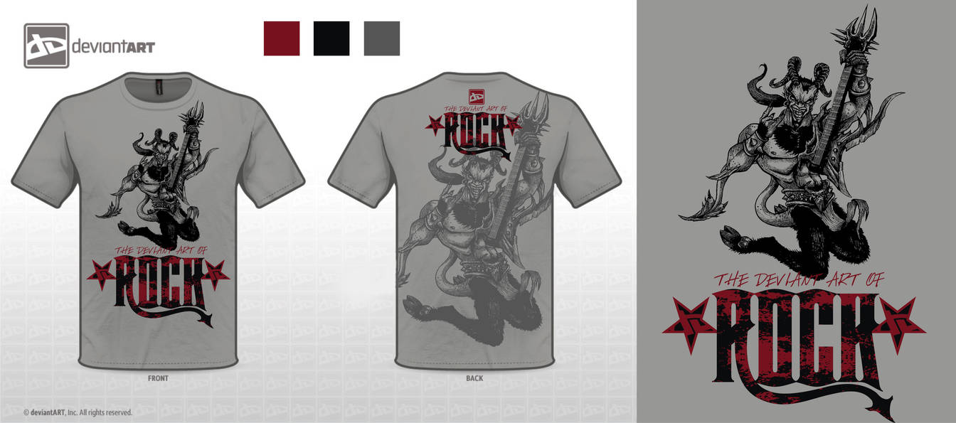 The Deviant Art Of Rock T Shirt Design By Justinmain On Deviantart