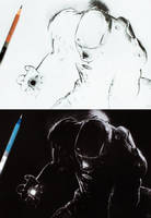 Iron Man inverted drawing by niC00L