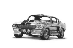 1969 Ford Mustang Eleanor drawing by niC00L