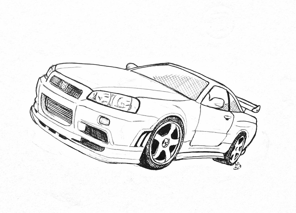 98 How To Draw A Nissan Gt R Drawingforall Net Draw Nissan Gtr