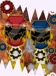 Kokogaku Sentai GiyaRanger : Giya R1 + Giya R2 by Sentaibrave