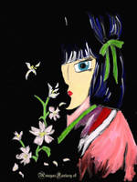 Dark Anime Geisha by AmayasFantasy