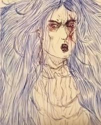Inktober - Furious by VampyrTenrai