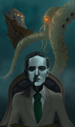 Reading Lovecraft by hitpain