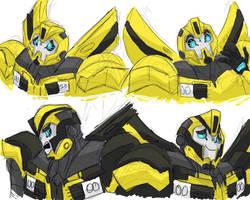 Bumblebee Doodles by VanillaREM