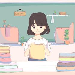 Folding cloth by Natsumi-asamiya