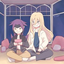 Playing games by Natsumi-asamiya