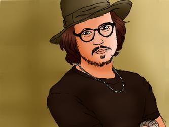 Johnny Depp by fuzzyhairedchick