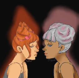 Neko and Mau by fuzzyhairedchick