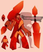 Vanadinite - Steven universe Gemsona by bloody-dimisis