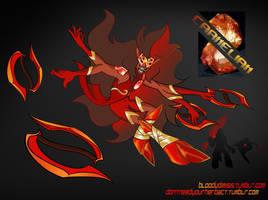 Steven universe Gemsona Fusion - Carnelian by bloody-dimisis