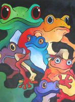 Frogs by glowing-fool