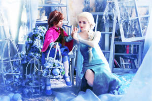 Frozen cosplay - Elsa and Anna by ForsakenWitchery
