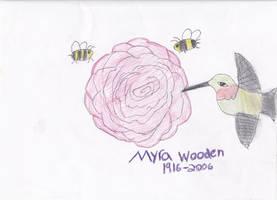 Humming bird flower by Hollena