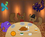 Sitting down to a Thanksgiving meal by Hollena