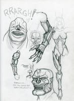 Character concept sketches by BigRobot