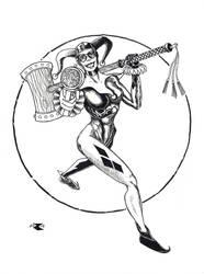 Harley Quinn inks by BigRobot