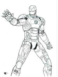 Iron Man Mk42 inks by BigRobot