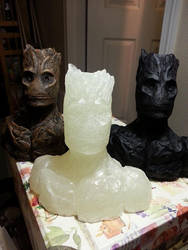 The many stages of Groot by BigRobot