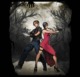 Resident Evil 4 - Leon and Ada by semsei
