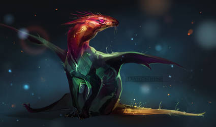 The little Dragon by Darenrin
