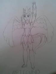 Articuno Gijinka Sketch by MMI-Hunter