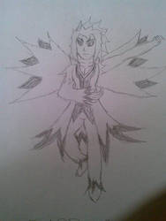 Zapdos Gijinka Sketch by MMI-Hunter