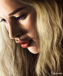 Emilia Clarke as Daenerys Targaryen in GOT by ShanaGourmet