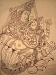 Sreenivasa and padmavathi by ajishrocks