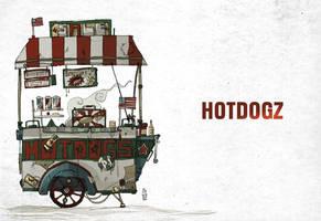 hotdogz sketch by lemon5ky