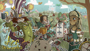 alice in wonderland poster by lemon5ky
