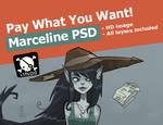 Marceline PSD by lemon5ky
