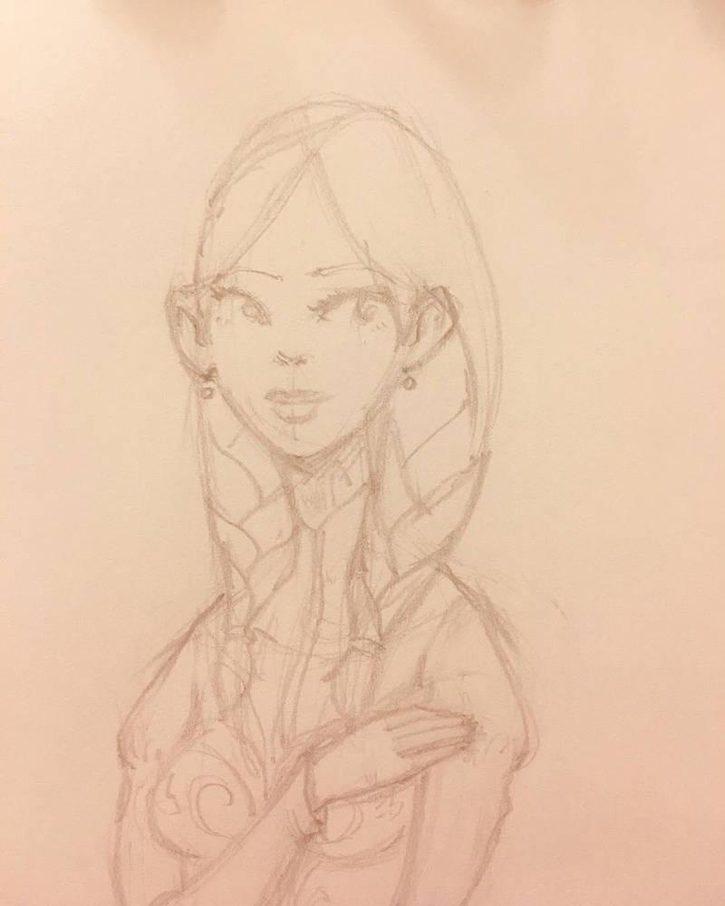 anna pencil lineart by lemon5ky