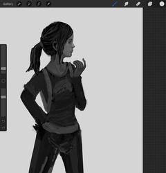 Ellie sketch by lemon5ky