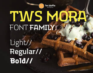 TWS MORA 3 weght typeface by 32-D3519N