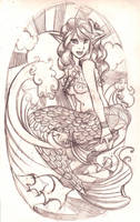 Mermaid by SyntheticFishTattoo