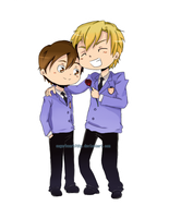 Tamaki and Haruhi by sugarbearkitty