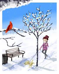 Winter Walk by sugarbearkitty