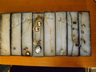 Various Necklaces Most Steam Punk Victorian by AxelOfArt