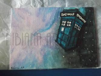 TARDIS in space by AxelOfArt