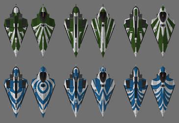 Jedi starfighter designs by PatBanzer