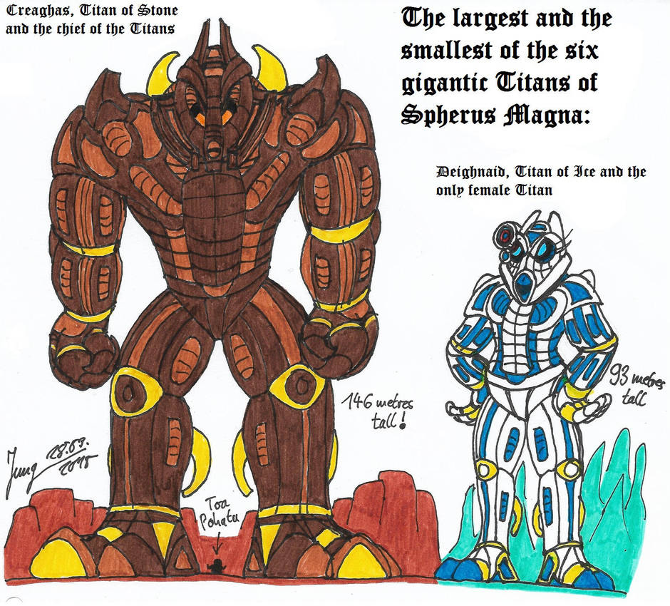 The Largest And The Smallest Titan By Heinzthebluegiant On Deviantart