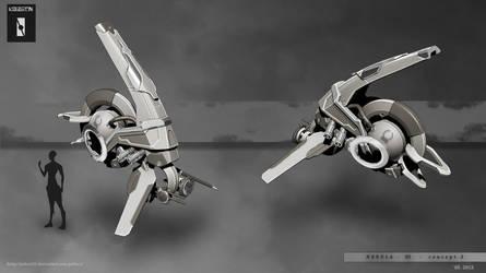 Fighter nebula 3D concept presentation by Iggy-design