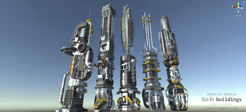 SciFi modular buildings by Iggy-design